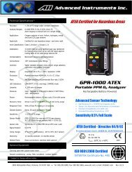GPR-1000 ATEX Portable PPM O2 Analyzer