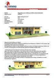 www.alpeimmo.at, E-mail: office@alpeimmo.at Objekt: Doppelhaus ...