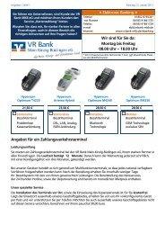Wir sind für Sie da: Montag bis Freitag 08.00 Uhr - VR Bank Main ...