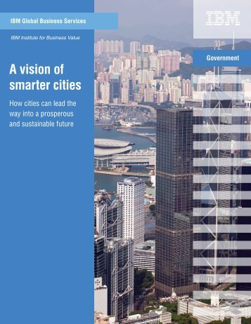 A vision of smarter cities - Major Cities of Europe