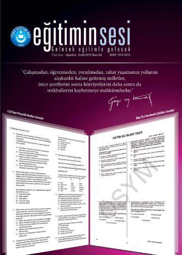 makale - Türk Eğitim-Sen