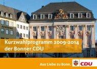 Kurzwahlprogramm als pdf - CDU-Kreisverband Bonn