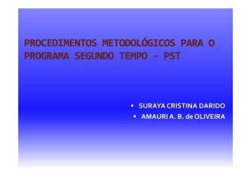 Procedimentos Metodológicos para o PST