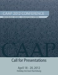 Call for Presentations - CAAP