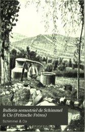 Bulletin semestriel de Schimmel & Cie [Fritzsche Frères]