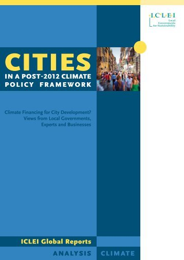 Cities in a Post-2012 Climate Policy Framework - ICCIP the ...