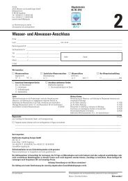 Formular 2 - Wasser- und Abwasseranschluss - Interlift