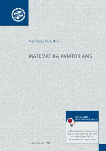 matematika aviatoriams - Vilniaus Gedimino technikos universitetas