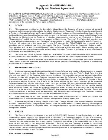 Appendix d information in a connection agreement with a customer appendix d supply and services agreement platinumwayz
