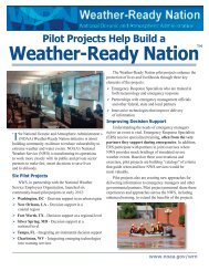 Pilot Projects Help Build a Weather-Ready Nation - NOAA