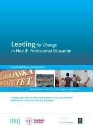 Leadingfor Change in Health Professional Education - Karolinska ...