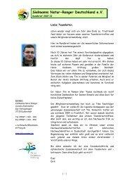 Online Rundbrief 2007.II - Sielmanns Natur-Ranger Deutschland eV