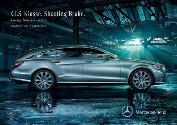 Preisliste CLS-Klasse Shooting Brake - Mercedes-Benz Deutschland