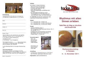 Rhythmus mit allen Sinnen erleben TaKeTiNa als Weg zu Intuition ...