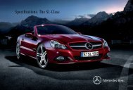 Specifications. The SL-Class - Mercedes-Benz South Africa