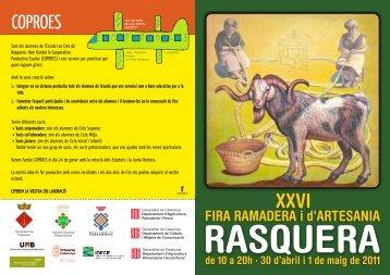 Diptic 2011 05.cdr - Ajuntament de Rasquera