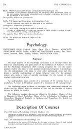 Psychology Description Of Courses