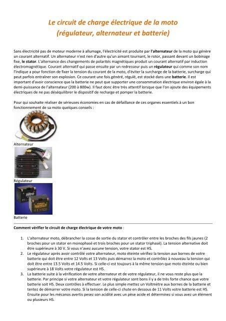 Le Circuit De Charge Electrique De La Motopdf Document Sans Nom