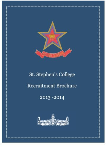 CPC Brochure (2011-12) - St. Stephen's College