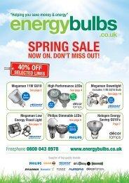SPriNg SAlE - Energy Bulbs