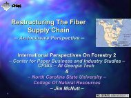 Restructuring The Fiber Supply Chain - The Center for Paper ...