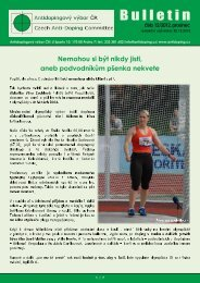 Bulletin - Antidopingový výbor ČR