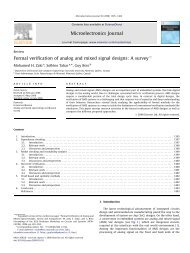 Formal verification of analog and mixed signal designs: A survey ...