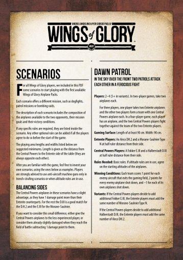 WW1 Wings of Glory – Scenarios (English Version) - Ares Games