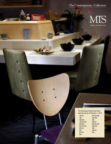 Contempo Chairs & Barstools - MTS Seating