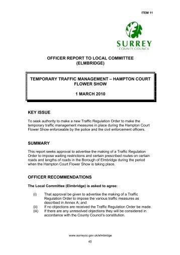 Hampton Court Flower Show - Surrey County Council