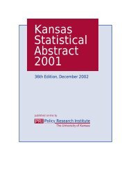 Kansas Statistical Abstract 2001 - Institute for Policy & Social ...