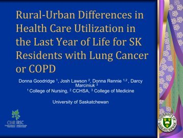 Powerpoint slides - University of Regina