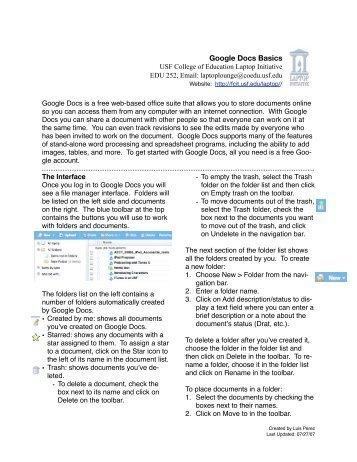 Google Docs Basics