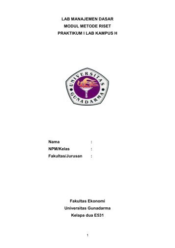 Modul MR REVISI PTA 2011-2012.pdf - iLab - Universitas Gunadarma