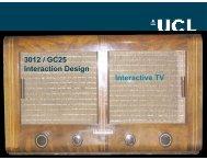 3012 / GC25 Interaction Design Interactive TV