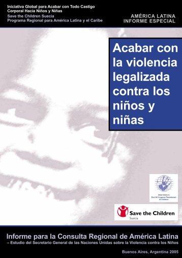 Acabar con la violencia legalizada contra los niños y niñas