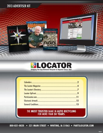 Download Our Sales Kit - The Locator Magazine