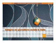 Il Giornalismo sociale in Italia - Prima Comunicazione