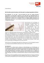 IBC SOLAR erweitert Sortiment mit Schraube für ... - PHOTON Info