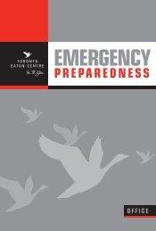 Emergency Preparedness Manual - Eaton Centre Towers