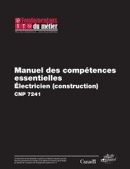 Manuel des compétences essentielles : Électricien (construction)