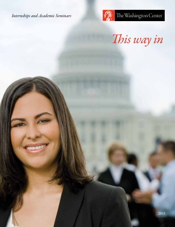 Download our program guide - The Washington Center