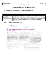 Chapitre 3 Contrôle social et déviance - Lycée Léonard de Vinci