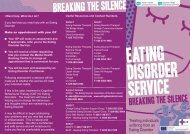 Primary Mental Health Care Eating Disorder Service leaflet