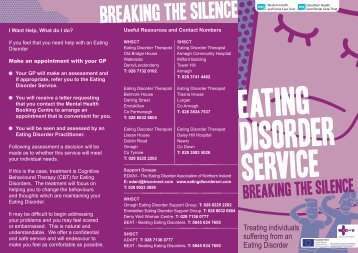 Primary Mental Health Care Eating Disorder Service leaflet