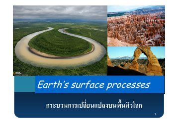 Earth's surface processes