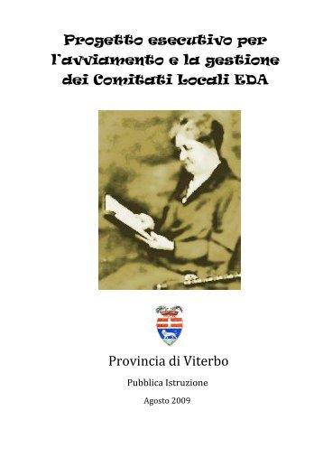 Progetto esecutivo del Comitato VT4 - Provincia di Viterbo