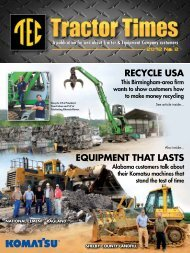 A publication for and about Tractor & Equipment Company customers