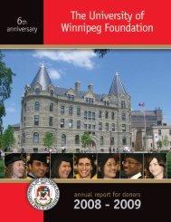 2008-2009 Annual Report - University of Winnipeg