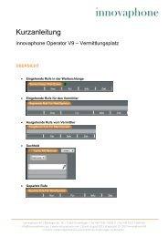 Kurzanleitung innovaphone Operator9 - DE